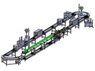 Automatic-spray-glazing-line-for-dishes